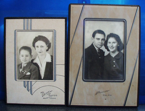 Two Art deco Photographer frames