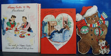 3 Hallmark greeting cards 1940 era