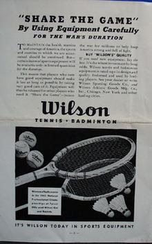 1942 Tennis Service bulletin, no 62