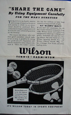 1942 Tennis Service bulletin, no 62