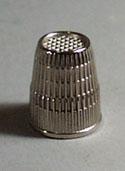 W. Germany metal Thimble, Nice size 8, 16 mm thimble