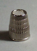 W. Germany metal Thimble, Nice size 8, 16 mm thimble