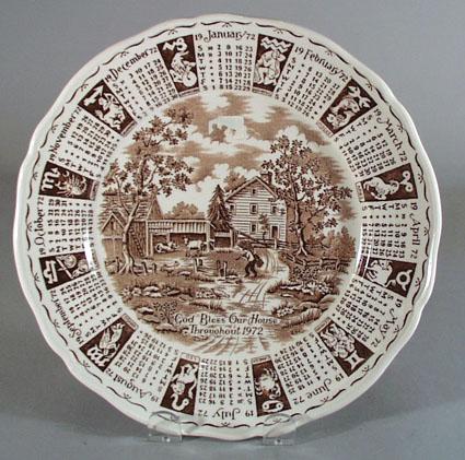 Alfred Meakin Calendar Plate1972