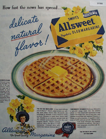 Swifts Alswet Oleomargarine 1945 Ad