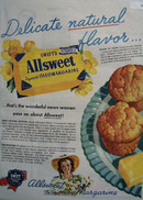 Swifts Allsweet Oleomargarine The Guest Quality 1945 Ad