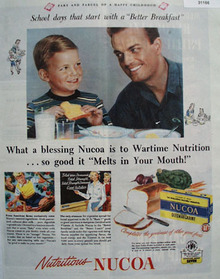 Nucoa Oleomargarine Melts in Your Mouth 1944 Ad
