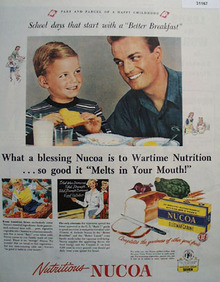 Nucoa Oleomargarine Melts in Your Mouth 1945 Ad