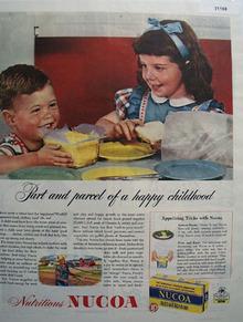 Nucoa Nutritious Oleomargarine 1945 Ad