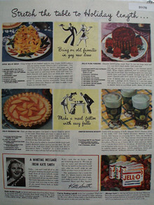 Jell O Recipe And Kate Smith War time Message 1943 ad
