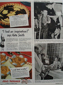 Jell O Puddings Marble Pie  1943 Ad