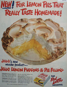 Jell O Lemon Pudding and Pie filling 1957 Ad