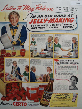 Certo for Jelly Making says May Robson 1939 Ad