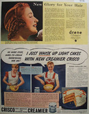 Crisco New Improved Creamier 1938 Ad