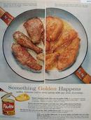 Flluffo Golden crispness Shortening 1956 Ad
