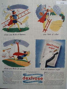 Dextrose Sugar Romeo and Juliet 1945 Ad