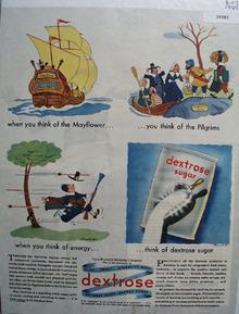 Dextrose Quick Energy Sugar 1945 Ad