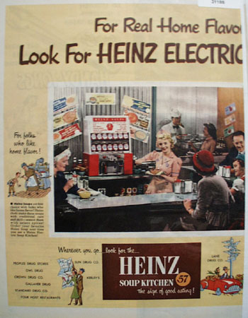 Heinz 57 Electric Soup Kitchen 1951 Ad