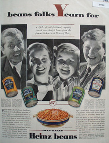 Heinz Oven Baked Beans 1957 Ad