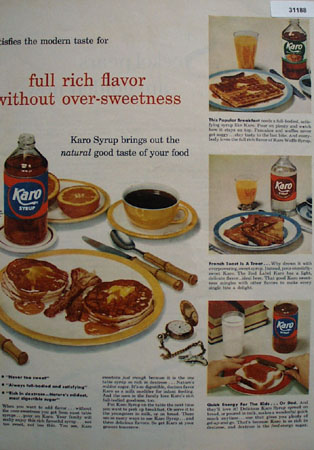 Kayro Syrup Never too Sweet 1954 Ad