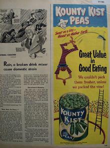 Kounty Kist Peas 1951 Ad