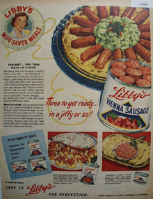 Libbys Wife Saver Meals 1950 Ad