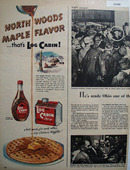 Log Cabin Syrup 1950 Ad