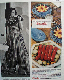 Visking Skinless served on Westmoreland 1944 Ad