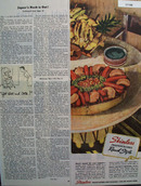 Skinless Frankfurters Ranch Style 1944 Ad