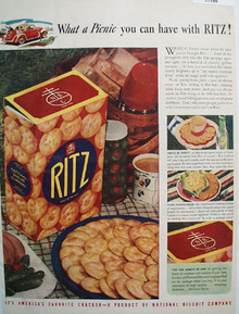 National Biscuit Co. Ritz Cracker 1940 Ad