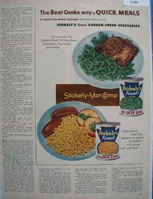 Stokleys Garden Fresh Vegetables 1954 Ad