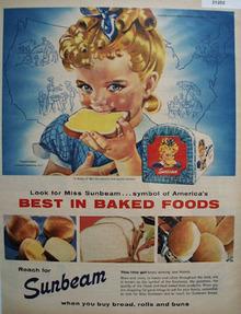 Sunbeam Baked Foods 1952 Ad