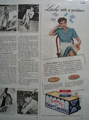Loose Wiles Biscuit Co. Sunshine Krispy Crackers 1943 ad
