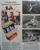 Sunshine Hi Ho crackers 1945 Ad