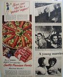 Swifts Premium Franks Americas Favorite 1949 Ad