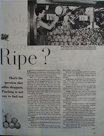 Is It Ripe Fruit 1949 Article