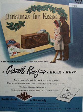 Caswell Runyan Cedar Chest 1945 Ad