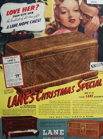 Lane Cedar Hope Chest 1939 Ad