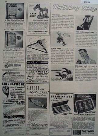 Shop By Mail Lazy Joe Laughing Horse 1948 Ad