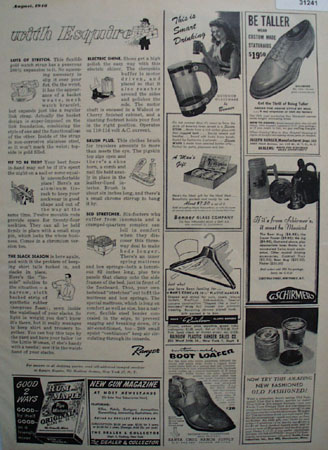 Shop By Mail With Esquire Bed Stretcher 1948 Ad
