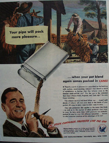 Can Manufactures Tobacco Containers 1945 Ad