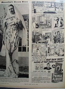 Prince Albert and Ol Judge Robbins 1938 Ad