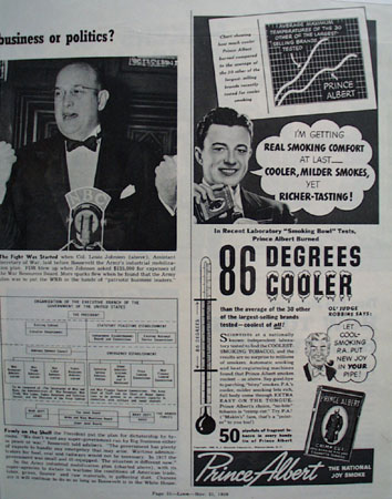Prince Albert Smoking Comfort 1939 Ad