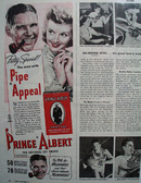 Prince Albert Tobacco with Pipe Appeal 1943 Ad