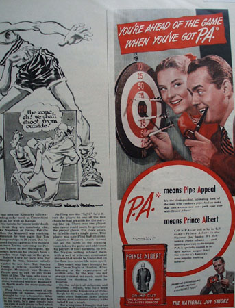 Prince Albert Crimp Cut Pipe and Cigarette Tobacco 1948 Ad