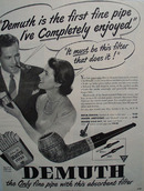 WDC Demuth Filter Pipe 1949  Ad