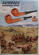 Kaywoodie Indian attack Pipe 1948 Ad