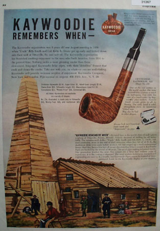 Kaywoodie Pipe First Oil well 1948 Ad