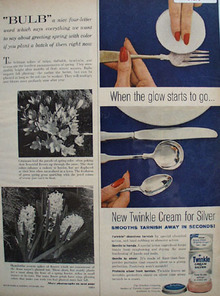 Drackett Co. Twinkle Cream for Silver 1961 Ad