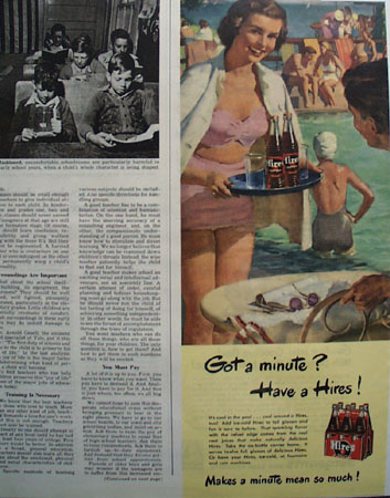 Hires Root Beer 1949 Ad
