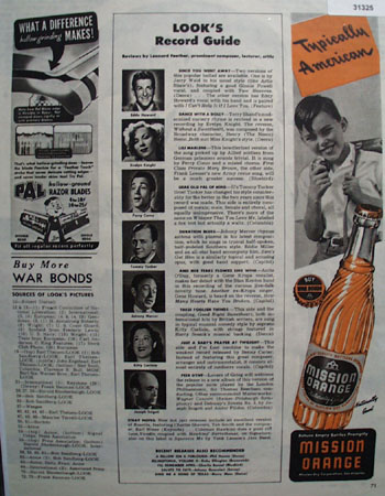 Mission Dry Corp. Mission Orange 1944 Ad